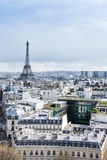 The metallic Eiffel Tower. An amazing view on the metallic Eiffel Tower and Paris City Stock Images