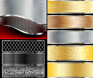 Metallic element. Royalty Free Stock Photography