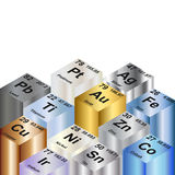Metallic Elements Background Royalty Free Stock Photography