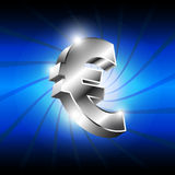 Metallic euro money icon Stock Photos