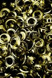 Metallic eyelets Stock Photography