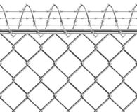 Metallic fence Royalty Free Stock Photos