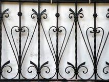 Metallic fence Royalty Free Stock Image