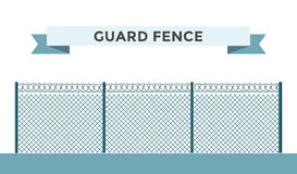Metallic fence  on background Stock Image