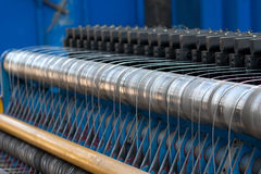Metallic fence machine Royalty Free Stock Images