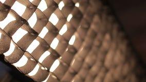 Metallic fence, mesh, netting stock video footage