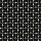 Metallic fence pattern Stock Photography