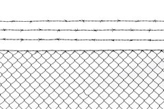 Metallic fence pattern background Royalty Free Stock Image