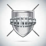 Metallic fitness emblem Royalty Free Stock Image