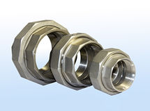 Metallic fittings. Royalty Free Stock Images