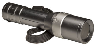 Metallic flashlight Stock Photo