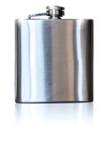 Metallic flask for alcohol Stock Photo