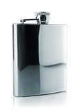 Metallic flask for drink Stock Photos