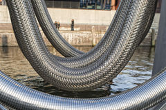 Metallic flexible pipe Royalty Free Stock Images