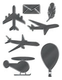 Metallic flight symbols Stock Photography