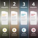 Metallic folders infographic Stock Photos