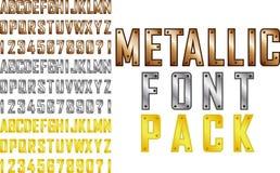 Metallic font Stock Photo