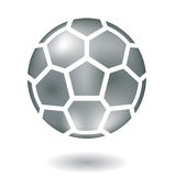 Metallic football Royalty Free Stock Photo