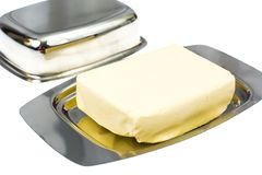 Metallic form for creamy butter. Studio Photo Stock Photography