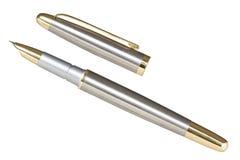 Metallic fountain pen Stock Photos