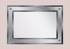 Metallic frame background Royalty Free Stock Photo