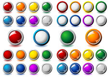 Metallic frame buttons Stock Images