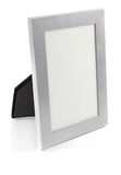 Metallic frame for photo. On white background stock photos
