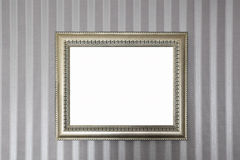 A metallic frame on the wall Royalty Free Stock Photo