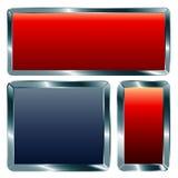 Metallic frames. Vector abstract blank metallic frames Stock Photo