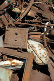 Metallic garbage stock image