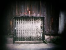 Metallic gate rusted steel sheet Royalty Free Stock Photography