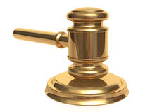 Metallic gavel and stand Royalty Free Stock Photography