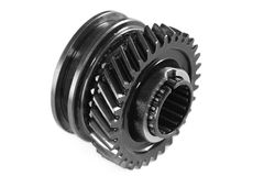 Metallic gear. Isolated, on a white background Stock Images