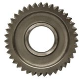 Metallic Gear. Hand made clipping path included Stock Images