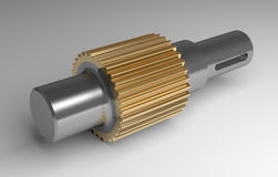 Metallic gear shaft Stock Photography