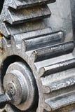 Metallic gear wheel. On gray color Royalty Free Stock Photo