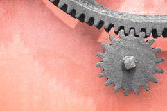 Metallic gear wheel Stock Images