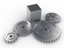Metallic Gears Royalty Free Stock Photos