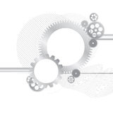 Metallic gears  background Royalty Free Stock Photography