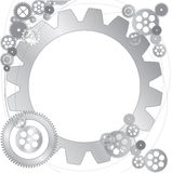 Metallic gears  background Royalty Free Stock Image