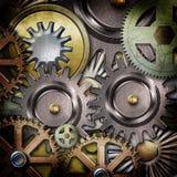 Metallic gears background Stock Photo