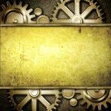 Metallic gears background Stock Image