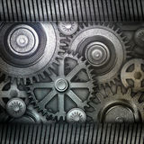 Metallic gears background Stock Images