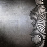 Metallic gears background Royalty Free Stock Images