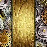 Metallic gears background Stock Image