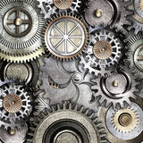 Metallic gears background Royalty Free Stock Photos