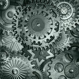 Metallic gears background Stock Photo