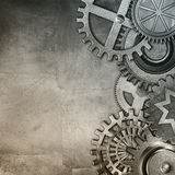 Metallic gears background Stock Photos