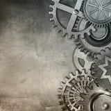 Metallic gears background Stock Photos