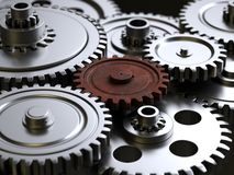 Metallic gears and cogs vector illustration